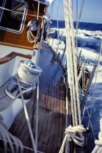 Ciñendo en el Atlántico (fotografía Alfonso Hernández)