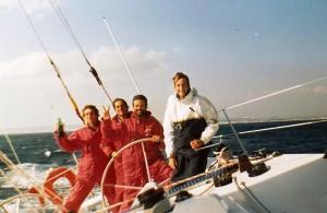 Atravesando el Estrecho de Gibraltar en Febrero de 1989