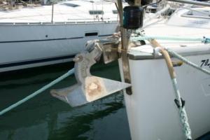 Ancla de arado, muy utilizada en los barcos de recreo
