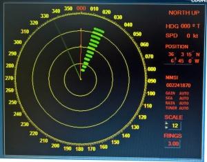 Señal Sart a menos de 3 millas del radar