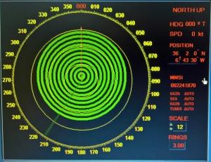 Sart próximo a la posición del radar del radar